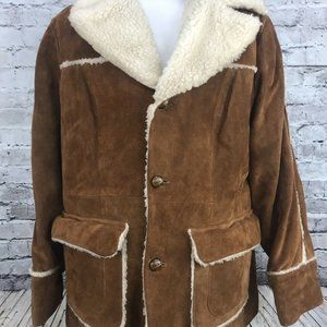 Pioneer Wear Suede Shearling Marlboro Man Jacket